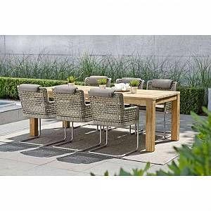 Stern Greta Freischwinger Aluminium Rope Inklusive Kissen Champagner Ecru Rehbraun Gartenmobel Veranda Tisch Gartenmobel Holz