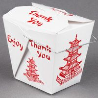 Fold-Pak 16WHPAGODM 16 oz. Chinese / Asian Take out Container Wire Handle Pagoda 500 / Case