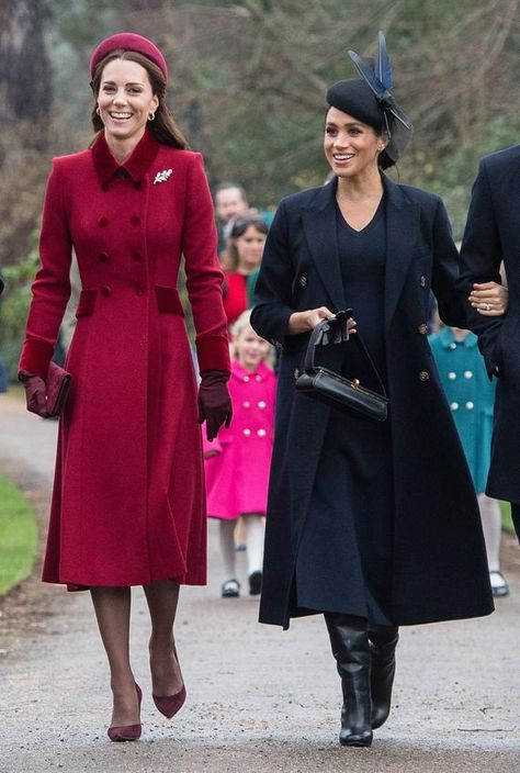 The royal family was in full force as they attended the Christmas morning service at St. Mary Magdalene Church, but it was Kate Middleton and Meghan Markle who