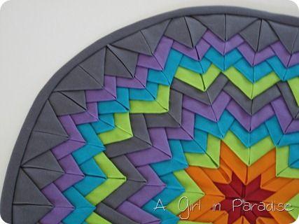 120 best GLACIER STAR QUILTS images on Pinterest   DIY, Mandalas ... : folded quilt blocks - Adamdwight.com