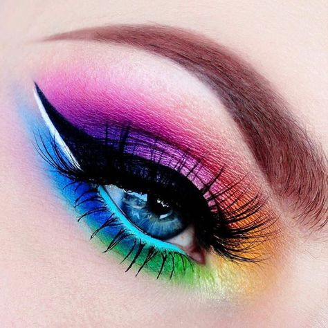 WEBSTA @ makeupaddictioncosmetics - 🌸✨🌸✨🌸We are obsessed with this rainbow look by your lovely thoughts below!