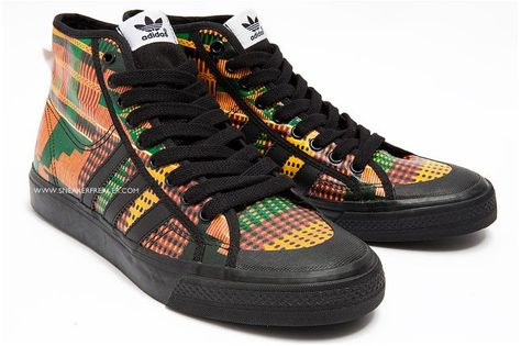 brand new 59cd0 848c1 The vivid new Jeremy Scott x adidas ObyO collection mashes together  everything from traditional African tribal textures to the tv test-pattern…