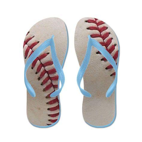 8e5eb3087bd CafePress Baseball - Flip Flops