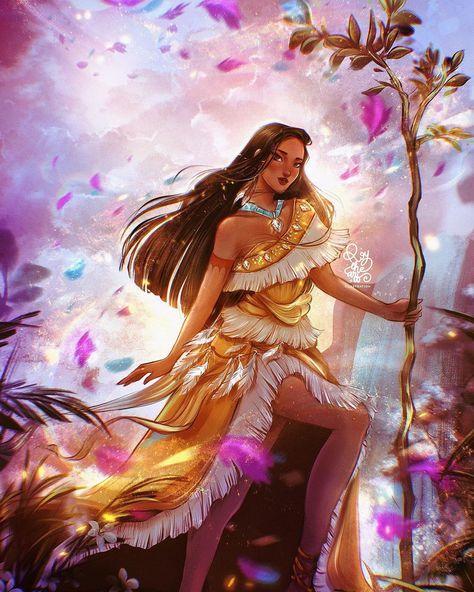 "ROY THE ART on Instagram: ""🍂POCAHONTAS🍂  _DISNEY PRINCESS FANART_  Pocahontas, the penultimate Disney Princess in this series, has been my favourite Disney movie…"""