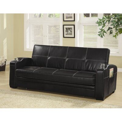 Wildon Home Atkinson Sleeper Wayfair Sofa Bed With Storage Faux Leather Sofa Leather Sofa Bed