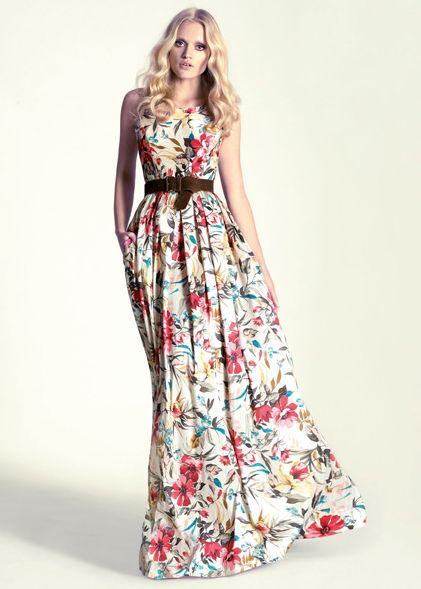 Vestidos largos de flores para gorditas