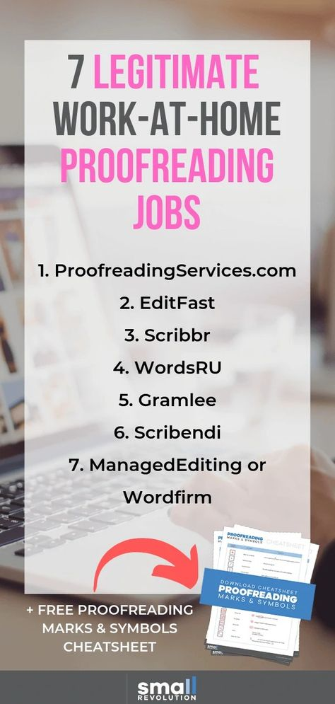 7 Legitimate Work-at-Home Proofreading Jobs | Small Revolution