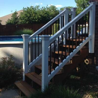 Beaumont Straight Railing Railings Outdoor Exterior Stair Railing Exterior Stairs