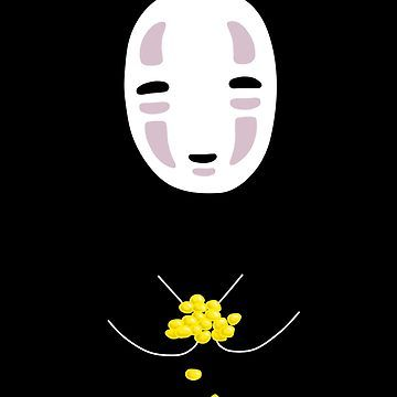 Pegatina No Face Stickers Spirited Away De Kiiroi Redbubble Spirited Away Wallpaper Studio Ghibli Art