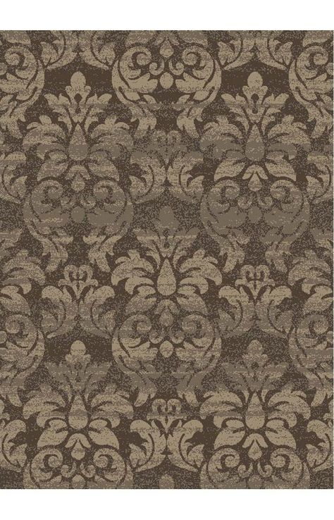 Istanbul Casa Damask Majestic Brown Rug 6 7 X 9 6 289 Damask Rug Contemporary Rugs Rugs