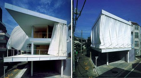 Curtain Wall House Shigeru Ban Architecture Shigeruban Pinned By