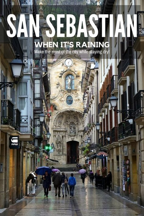It's bound to rain in San Sebastian so why not be prepared with fun things to do when the rain starts to fall. #sansebastian #spaintravel #rainydayplans