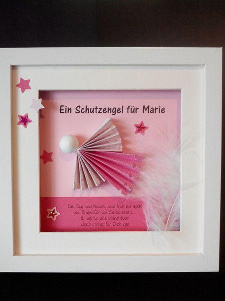 Exclusives Geldgeschenk Geschenkbox zur Taufe in rosa