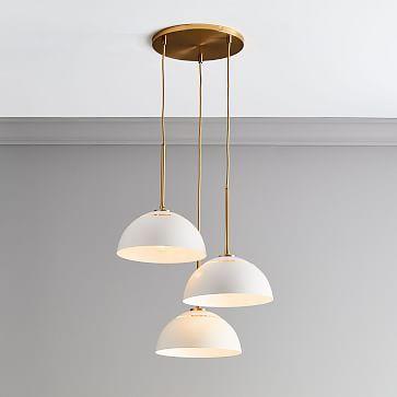Sculptural Glass Globe 3 Light Chandelier Medium #westelm