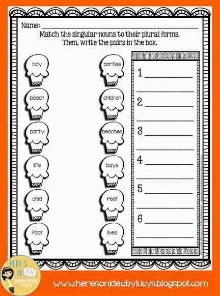 Free Singular Plural Nouns Matching Activity Worksheet Worksheet Wednesday Singular And Plural Nouns Singular And Plural Plurals Singular and plural nouns worksheets