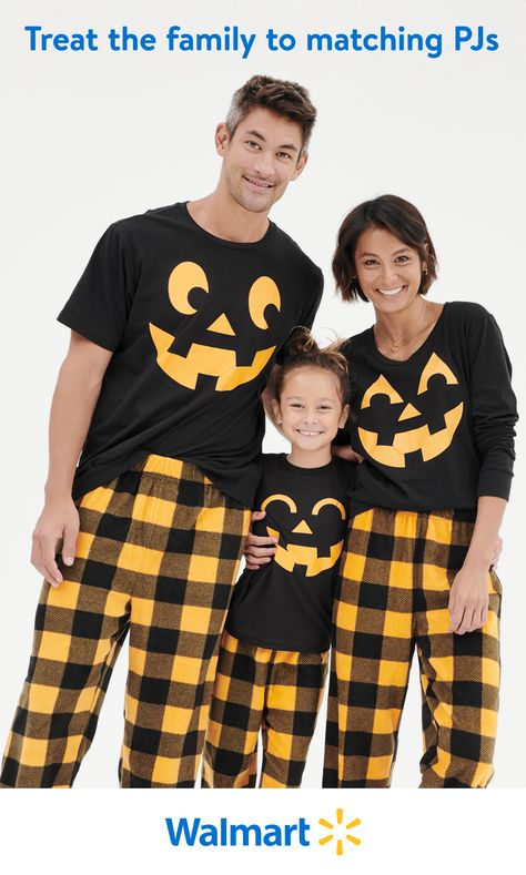 Snuggle up for some quality spooky time with the family this Halloween. Walmart.com has festive PJs for you and your loved ones. Items shown from $15.99-19.99.