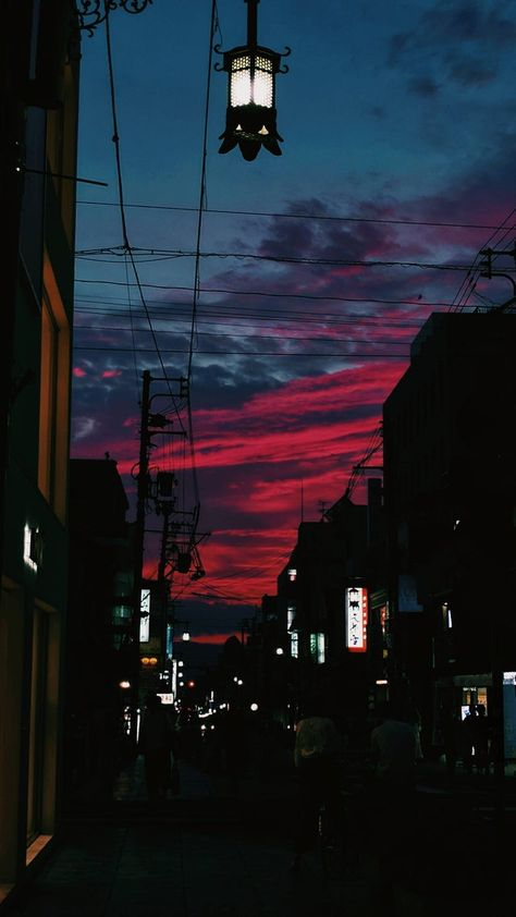 [OC][2160x3840] Today's sunset was crazy in Nara, Japan - SkyPorn