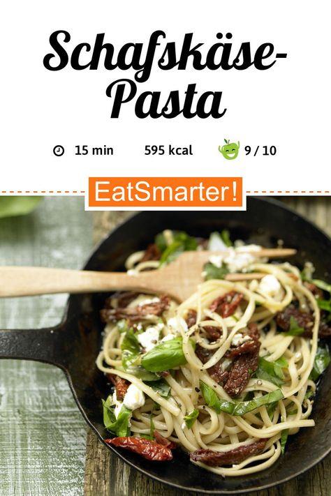 Top Ballaststoff-Lieferant: Schafskäse-Pasta - 595 kcal - schnelles Rezept - einfaches Gericht - So gesund ist das Rezept: 9,5/10 | Eine Rezeptidee von EAT SMARTER | Gesunde Augen, Kinderwunsch, Leber, Morbus Crohn, Reizdarm, Schwangerschaft, Stillzeit, Stress, Wechseljahre, Italienisch, 15-Minuten-Rezepte, Essen im Büro, Was koche ich heute, Für jeden Tag, Schnelle Rezepte, Singleküche, Studentenküche, Kochen, Nudeln, Mittagessen, Abendessen, Hauptspeise, Vegetarisch #pasta #gesunderezepte