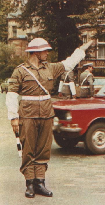 East German Nva Military Policeman 1980s With Images Cold War