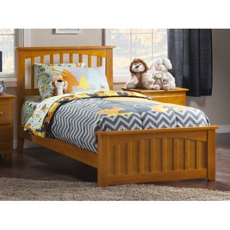 224 Mission Twin Xl Traditional Bed With Matching Foot Board