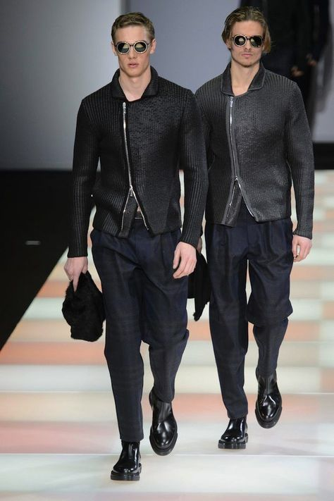 Emporio Armani Men's Fall 2015 Runway