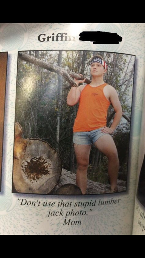 Making mom proud, one lumberjack photo at a time.<--- look at dem thighs XD