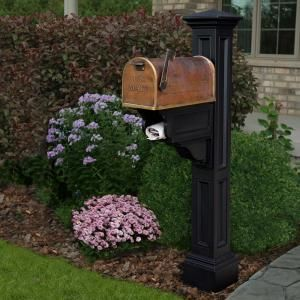 Architectural Mailboxes Hillsborough Post Mount Mailbox Copper 5593c Cg 10 The Home Depot Mailbox Landscaping Mailbox Post Mailbox Makeover