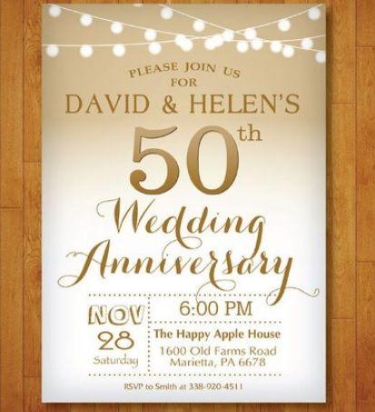 Biglietti Invito Anniversario 50 Anni Matrimonio Inviti Per Anniversario Anniversario Di Matrimonio Anniversario