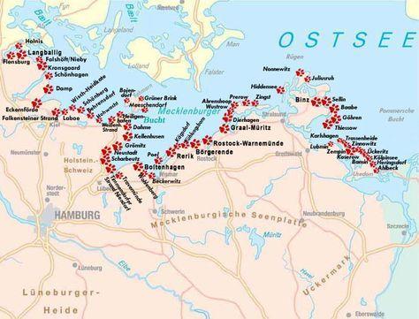 Karte Hundestrande Ostsee Mit Bildern Ostsee Karte