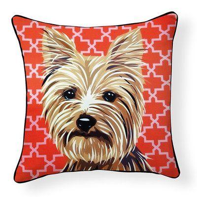 Ebern Designs Duren Yorkshire Terrier Indoor Outdoor Throw Pillow Yorkshire Terrier Terrier Yorkshire Terrier Dog