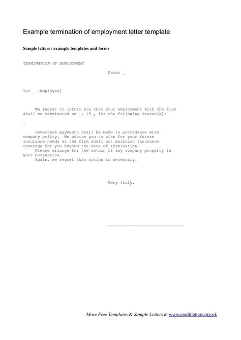 Appointment Letter Template images - appointment letter Legal - letter termination