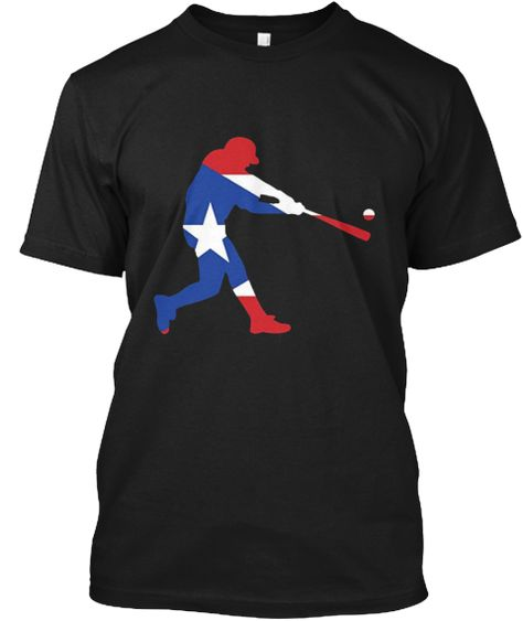 Puerto Rico Baseball T Shirt Pr Black T-Shirt Front