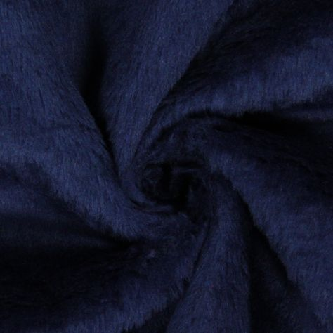 Tessuto peluche 13 - Acrilico - Poliestere - blu marino