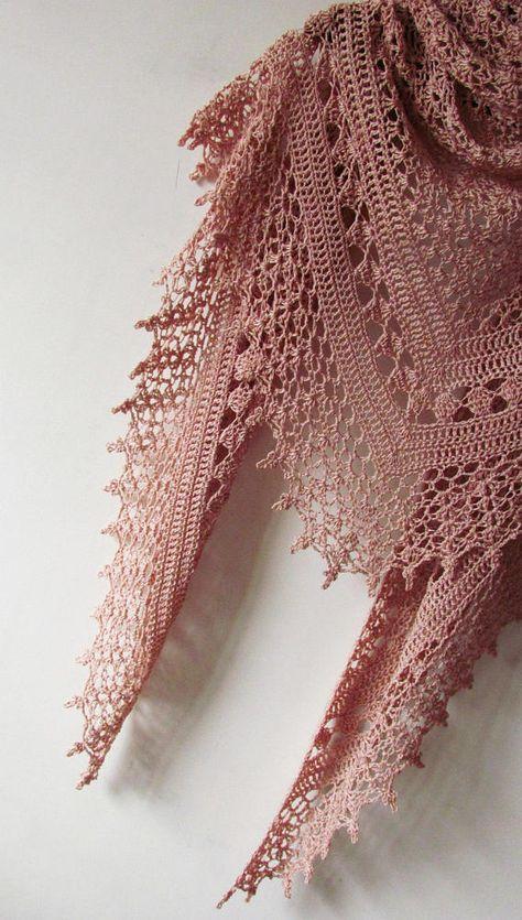 Crochet Powder Shawl - Summer Cotton Shawl - Crochet Summer Shawl - Made To Order
