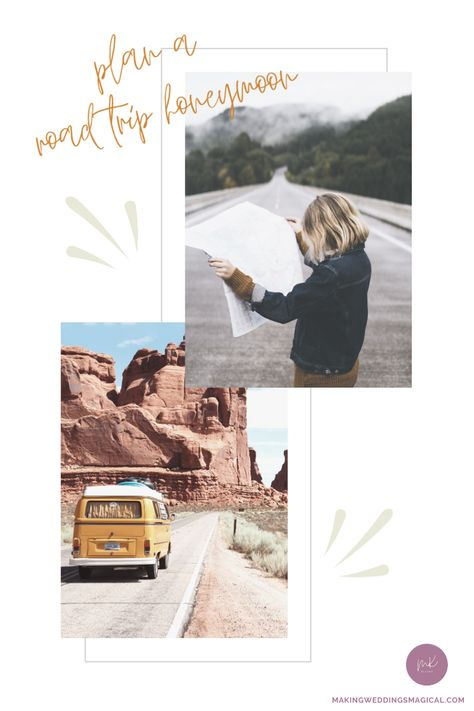 If you're the type of couple that revels in the journey rather than the destination, consider planning a road trip for your honeymoon vacation. Whether you plan out every detail or leave it all up to change, remember that adventure is out there! Click the picture to plan the perfect road trip vacay. #roadtriphoneymoon #weddingblog #honeymoonplanning