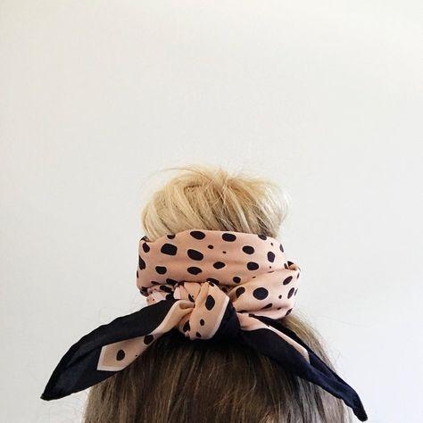 Pañuelo Animal Print Cuadrado en Semiseda para el Cuello | Etsy