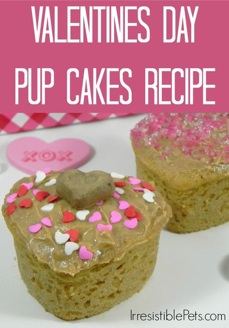 Valentines Day Pup Cakes Recipe via IrresistiblePets.com