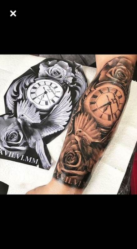 63 New Ideas Tattoo Sleeve Clock Beautiful
