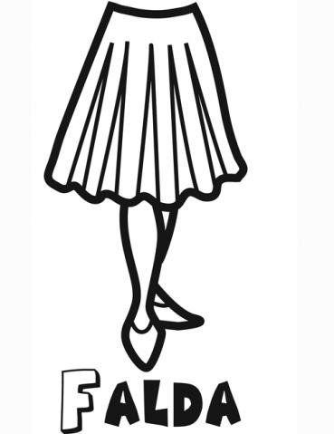 Dibujo De Una Falda Para Colorear Dibujos De Ropa Para Ninos Patrones De Costura Faldas Ropa