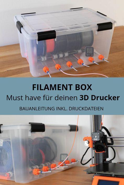 Diy Filament Box Selber Bauen Die Anybox 3d Drucker 3d Drucker Vorlagen 3d Drucker Projekte