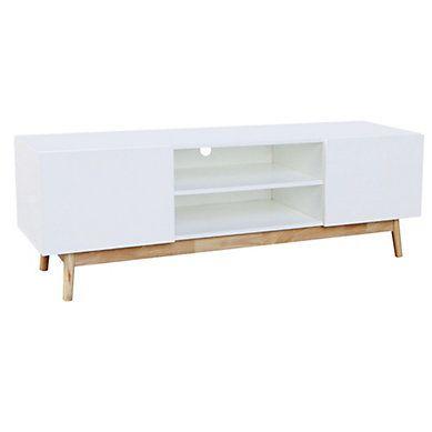 meuble tv scandinave whiten blanc