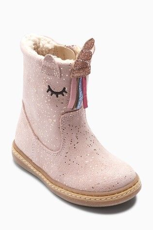 Pink Unicorn Boots (Younger) | Kids