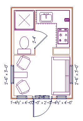 Floor Plans For A Neat Tiny House 10x12 SWEEET Put Kitchen On Bathroom Wall