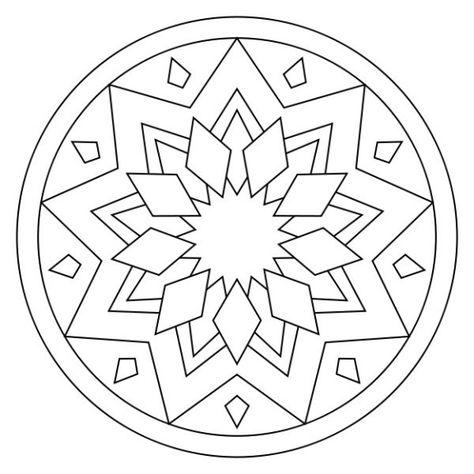 Coloriage Mandala Facile A Imprimer Coloriagemandala In 2020