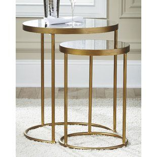 Metal End Tables You Ll Love Wayfair End Tables Nesting