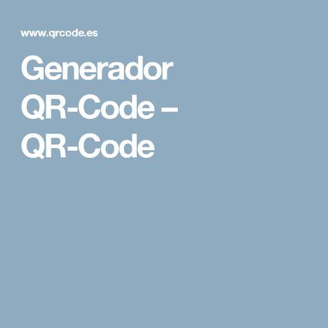 Generador QR-Code – QR-Code