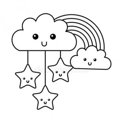 Nube Y Arcoiris Dibujos Sencillos Disney Dibujos Nubes Y Arcoiris
