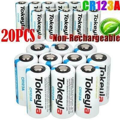 20pcs Tokeyla 3v Cr123a Cr17345 3 Volt Batteries For Camera Etc Us Stock L In 2020 Batteries Camera Button Cell