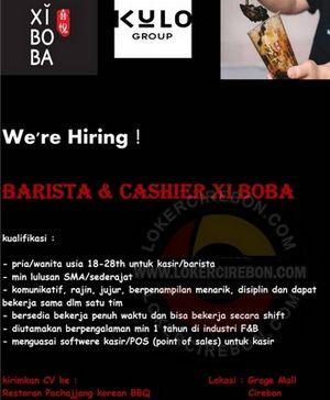 Lowongan Kerja Xi Bo Ba Grage Mall Cirebon Di 2020 Barista Sma