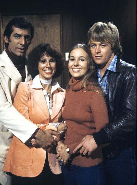 Michael Gregory (Rick), Denise Alexander (Lesley), Genie Francis (Laura) and Kin Shriner (Scott) - 1970s #GeneralHospital #GH50